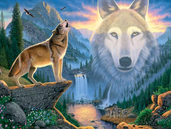 Оригинал - Схема вышивки Волк